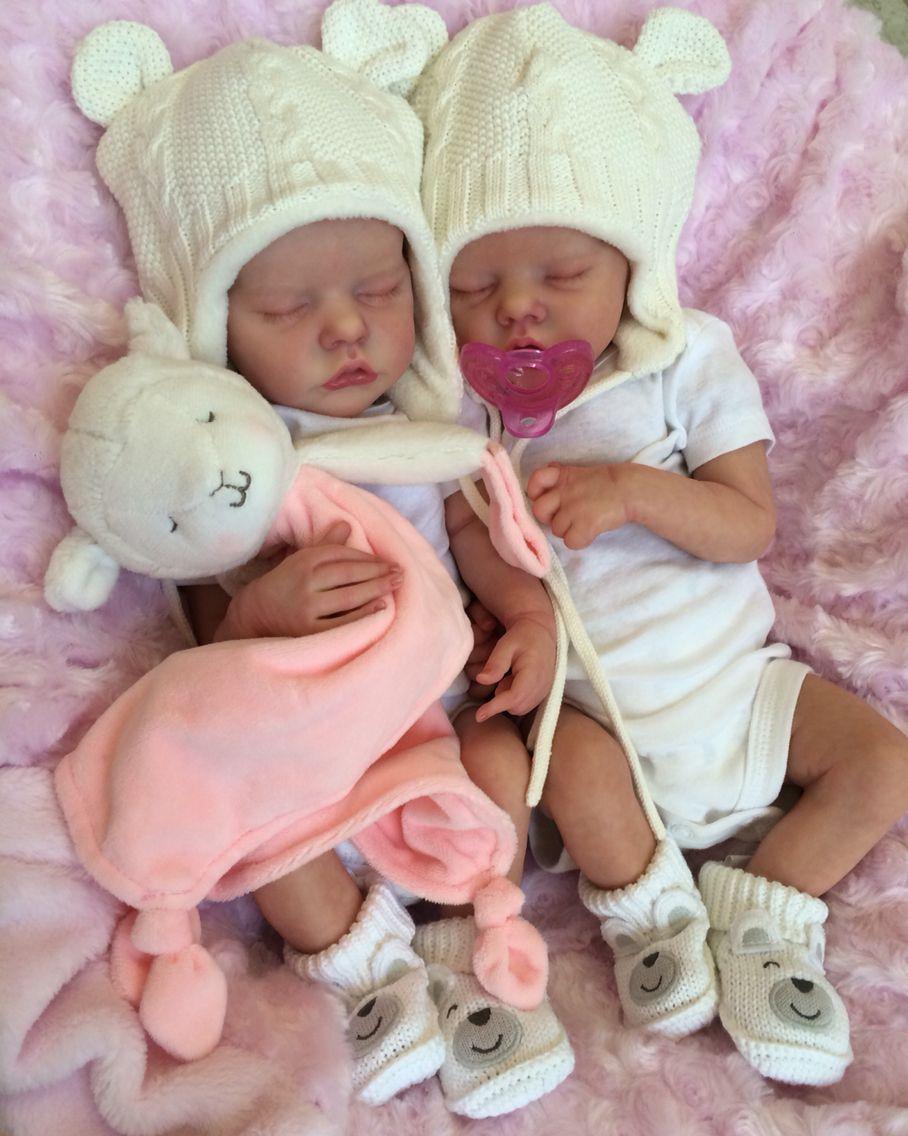 3a5da44962d Twin A Twin B Bonnie Brown reborn doll. Created by Mary Anderson Dolls.
