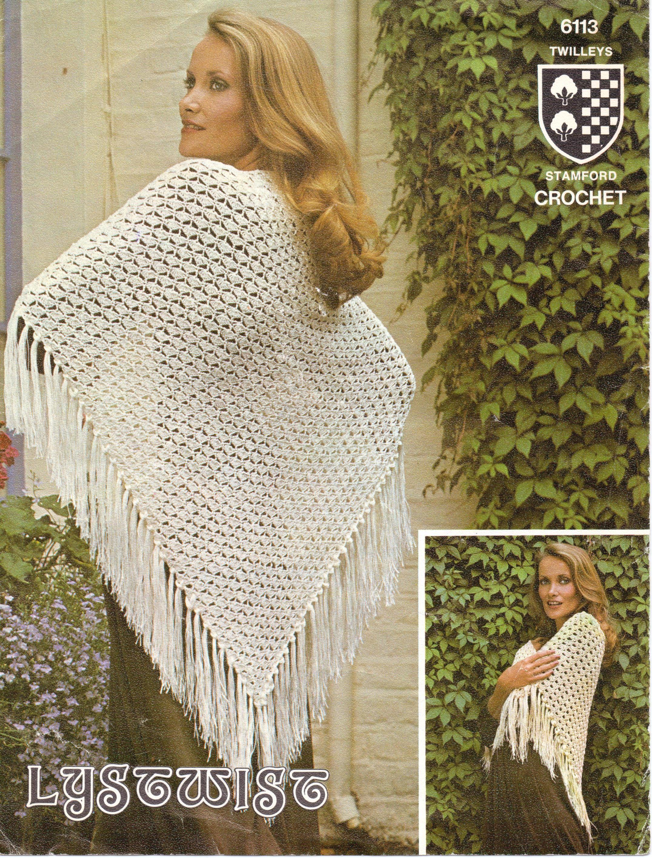 vintage shawls TWO CROCHET PATTERNS
