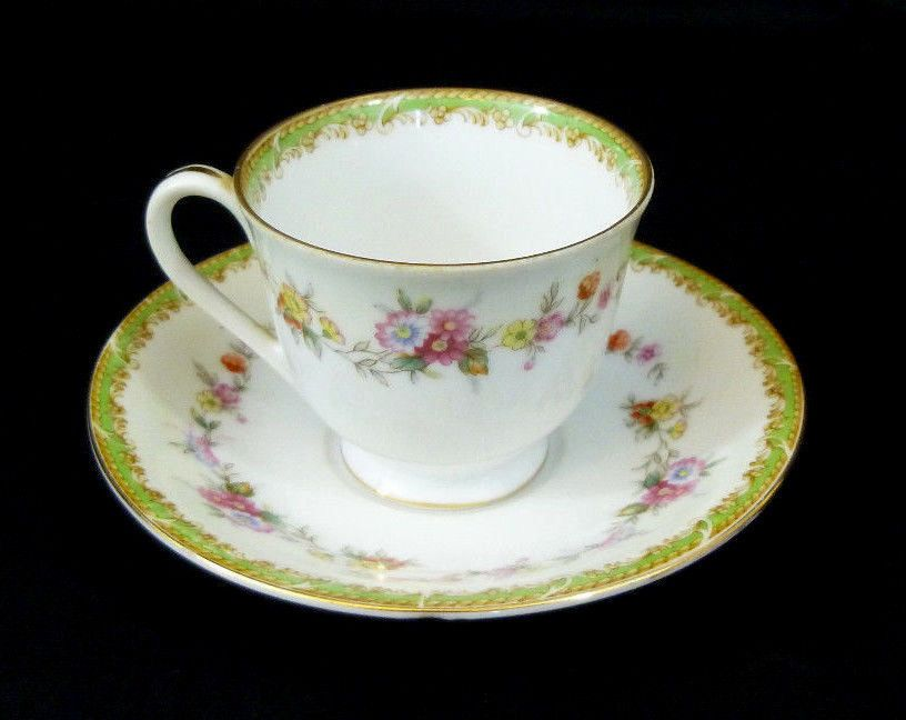 Antique Demitasse Cup And Saucer Occupied Japan Hand Painted