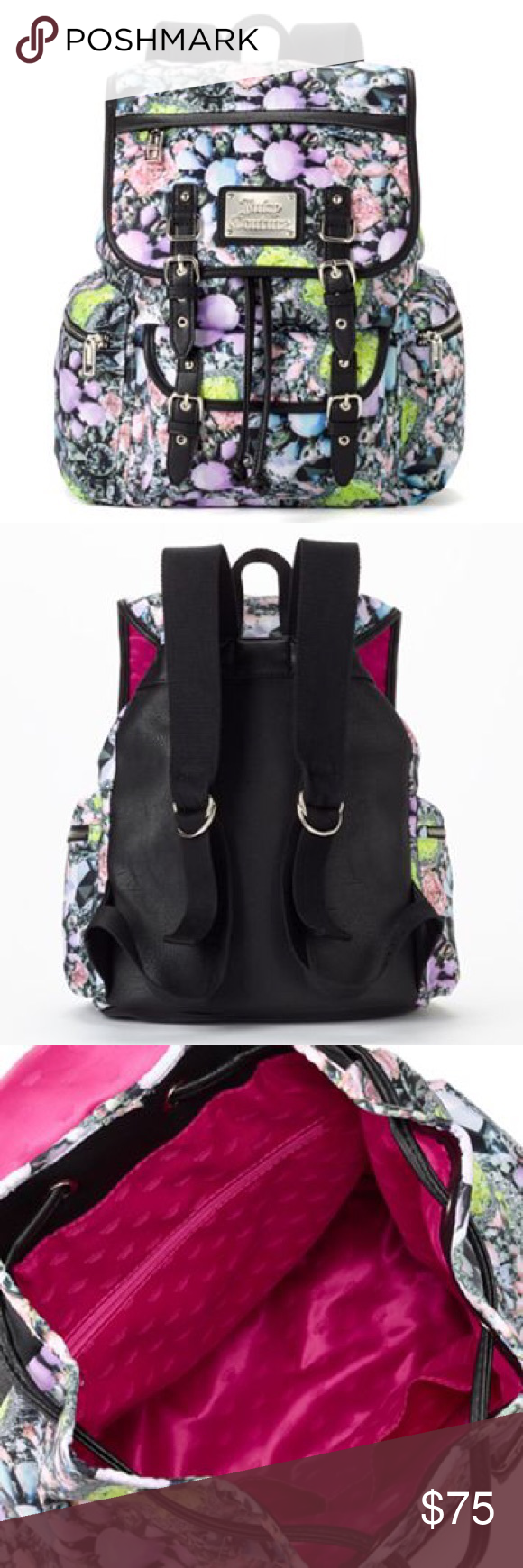 696f4fd142dd Juicy Couture Floral Backpack Bag School Fall NWT Capture the spotlight  with this Juicy Couture flower power school campus backpack bag.