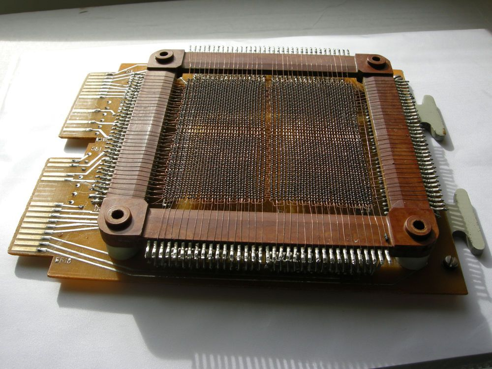 USSR Magnetic Ferrite Core Memory plate 4096b & diode array