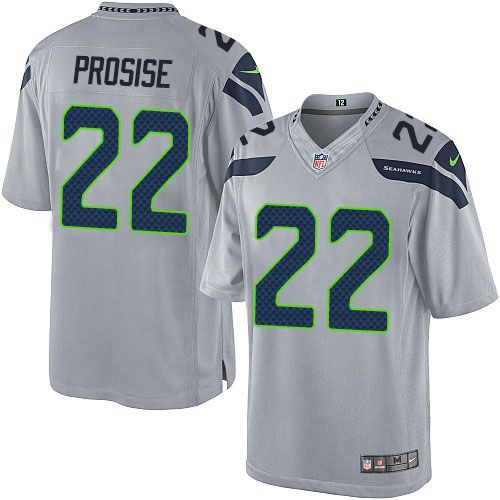 Youth Nike Seattle Seahawks  22 C. J. Prosise Limited Grey Alternate NFL  Jersey Matt Ryan jersey 2afadcd2f