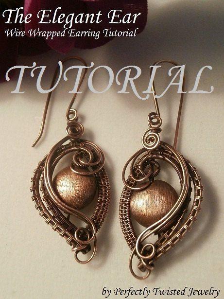 Wire Wrap TUTORIAL, Draht gewickelt Ohrringe, die elegante Ohr ...