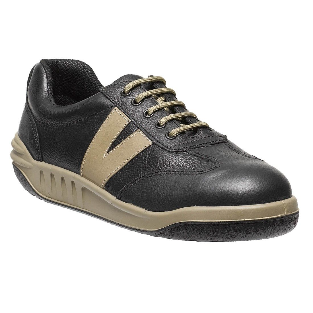 d192fdefc39 Parade Footwear Jud Black Leather Contrast S2 Unisex Safety Trainers ...