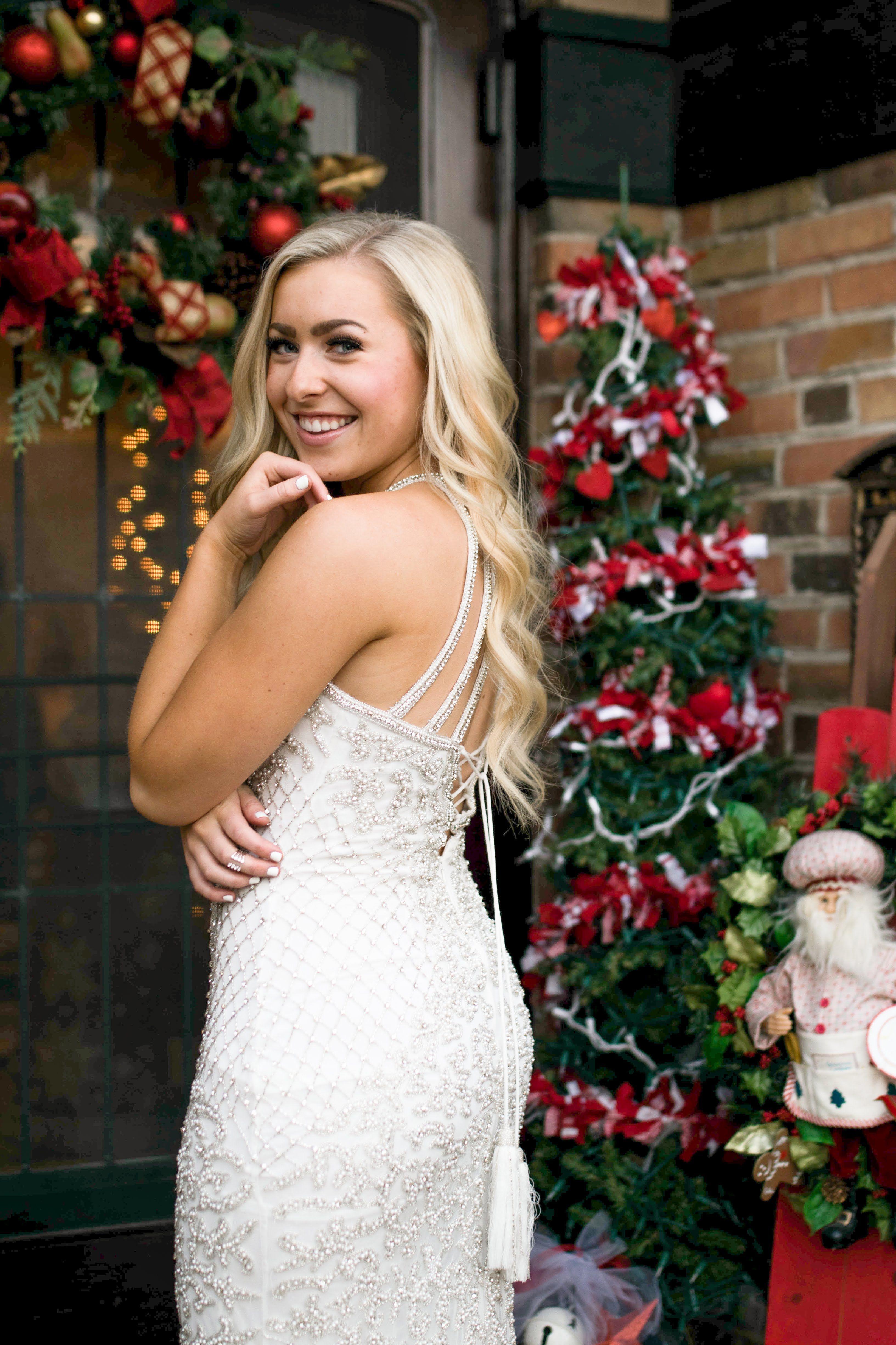 Christmas Eve Dresses.Sherri Hill White Fully Beaded Detailed Dress Ypsilon