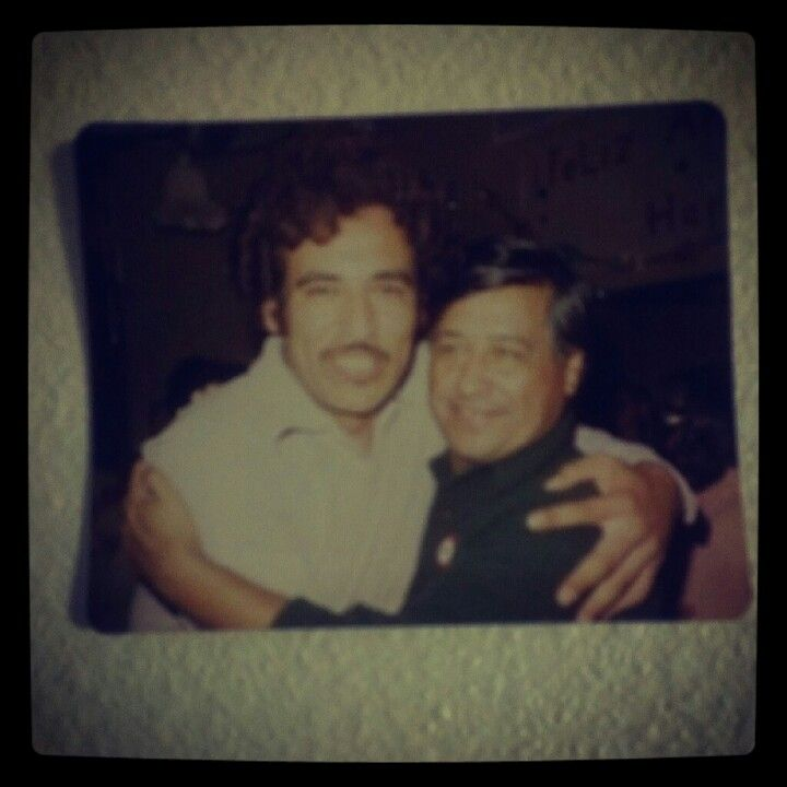 This is probably my favorite picture of my father. I love the history behind it, I love his smile and I love my dad. I don't tell him much but I am proud of what he has done alongside Cesar Chavez.