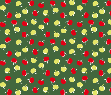 Day 142 - Betty Grable Apple Cart fabric by tuppencehapenny on Spoonflower - custom fabric