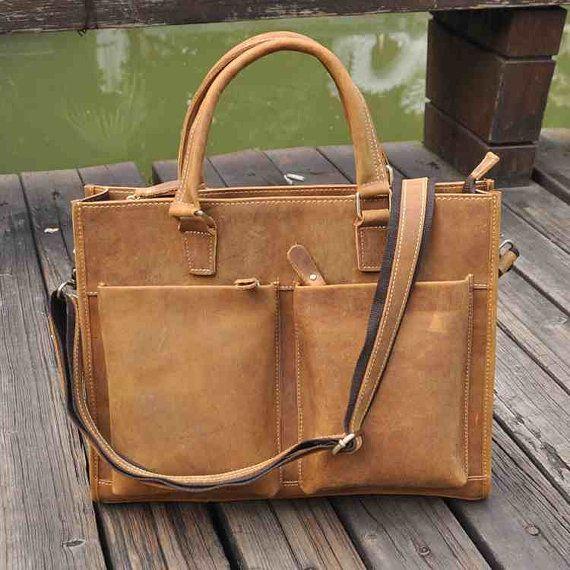 Cowhide leather Men Bag Genuine Leather shoulder For Men by 4Budds