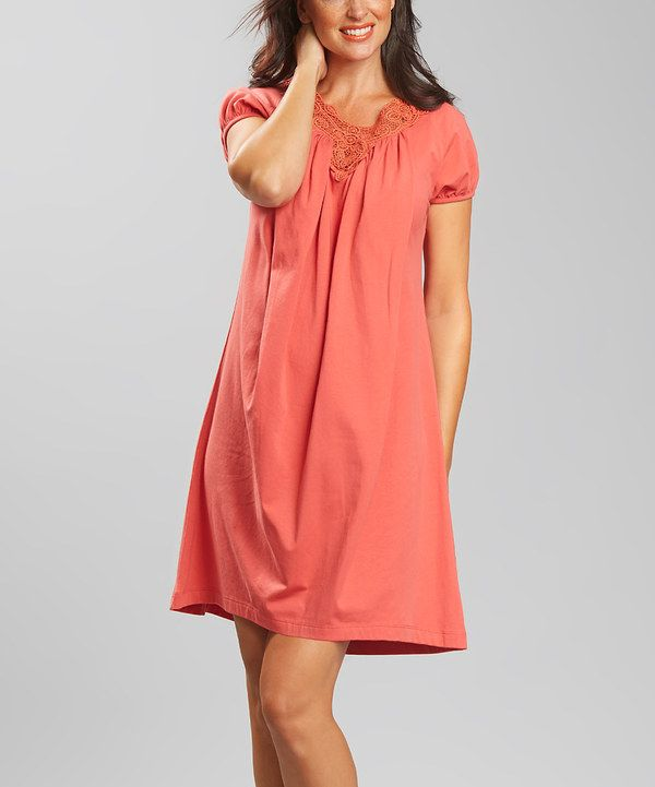 Papaya Sadie Maternity & Nursing Cap-Sleeve Dress by LOVE MILK #zulily #zulilyfinds