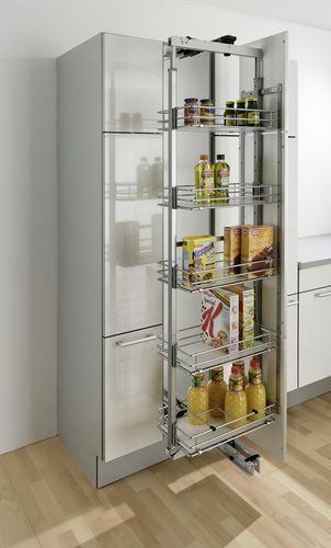 Kessebohmer Clever Storage Dispensa pantry in chrome white - ikea küchenplaner online
