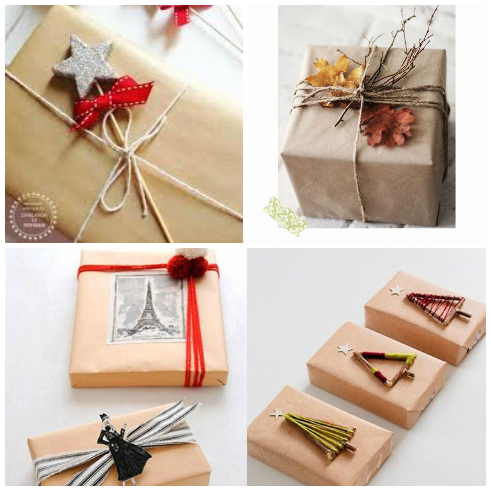 Como envolver regalos con papel craft buscar con google - Como envolver regalos de navidad originales ...