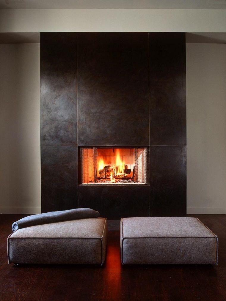 Tipos de chimeneas perfectas para un hogar acogedor Modern