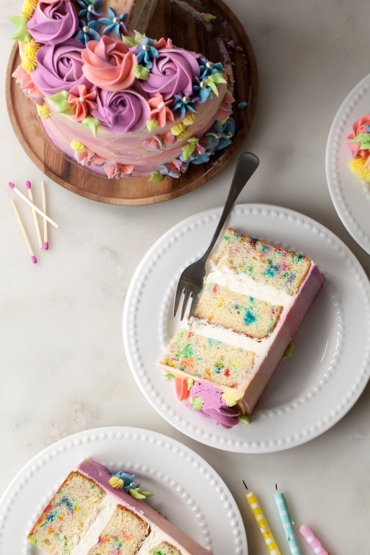 Pastel Buttercream Sprinkle Birthday Cake   Cake recipes ...