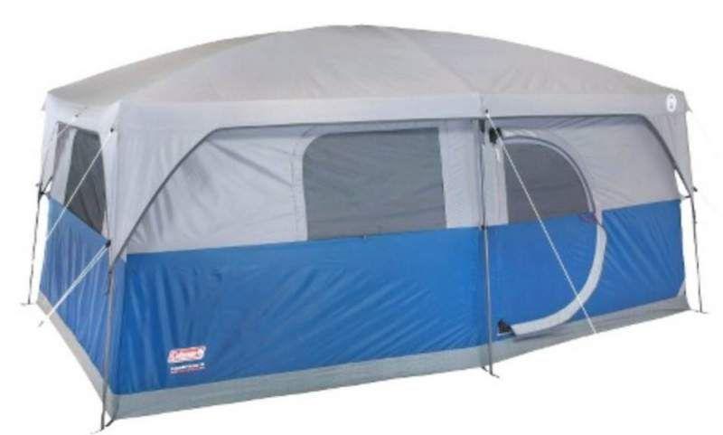 Coleman Hampton 9 Person Tent Review Pleasant Summer Cabin Tent Reviews Camping Tent Lights Tent