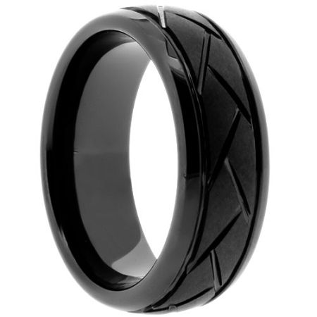 Tire Tread Ring Chopper Made In The Usa Black Ceramic Ring Ceramic Rings Mens Wedding Rings Unique