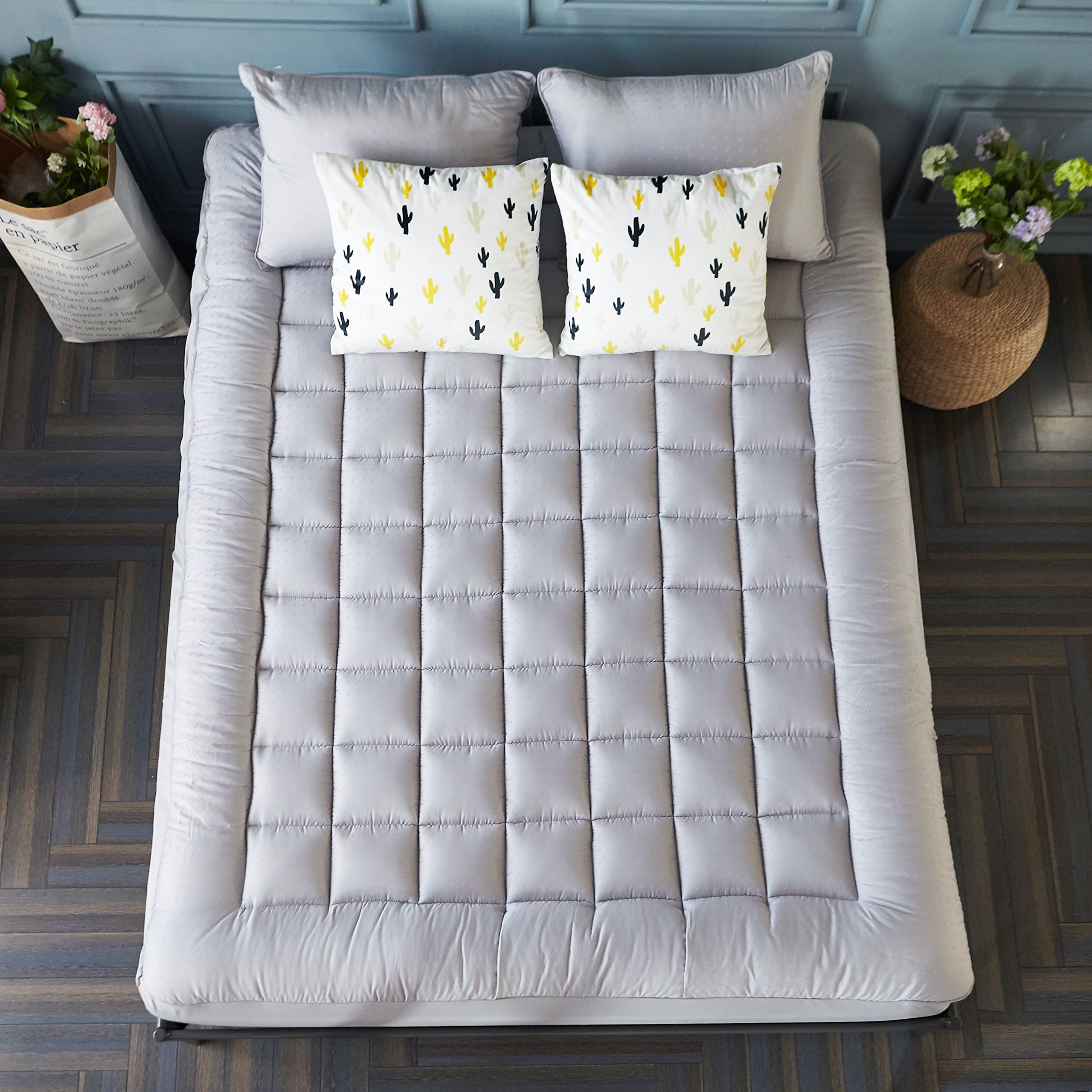sonoro kate mattress pad cover down alternative quilted fitted