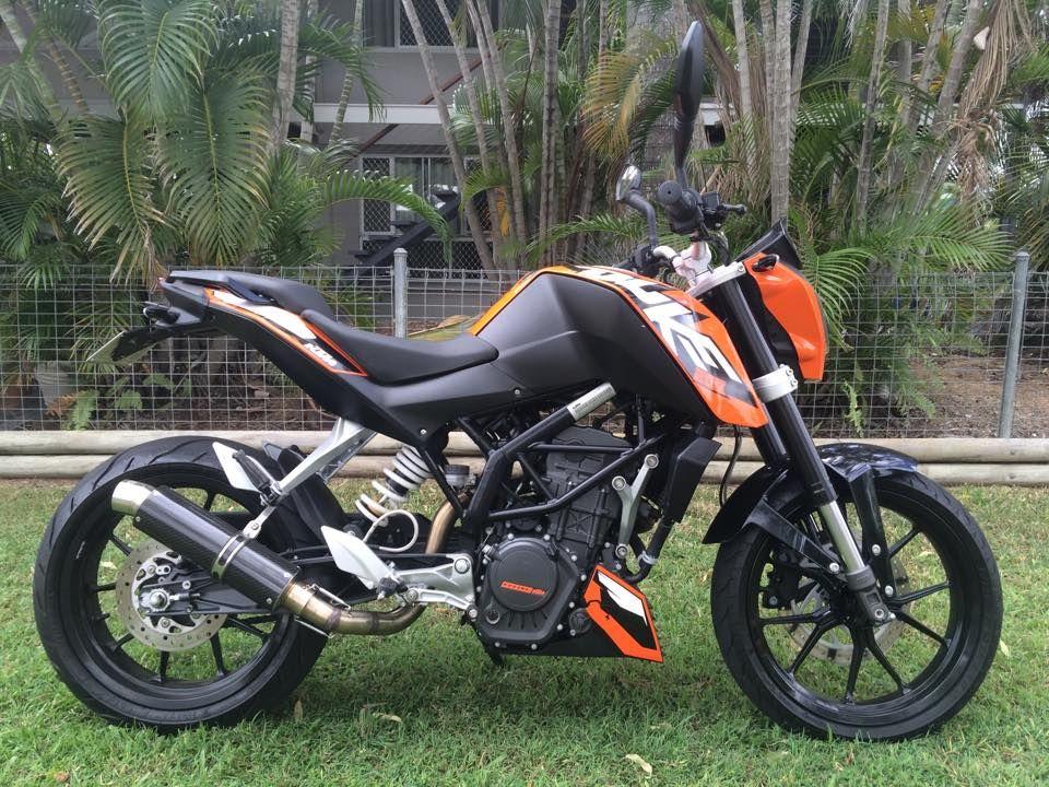 for sale: ktm duke 200 2012 -2012 model -8500km -aftermarket