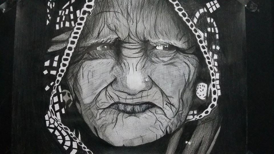 رصاص جاف مازن خالد Male Sketch Art My Arts