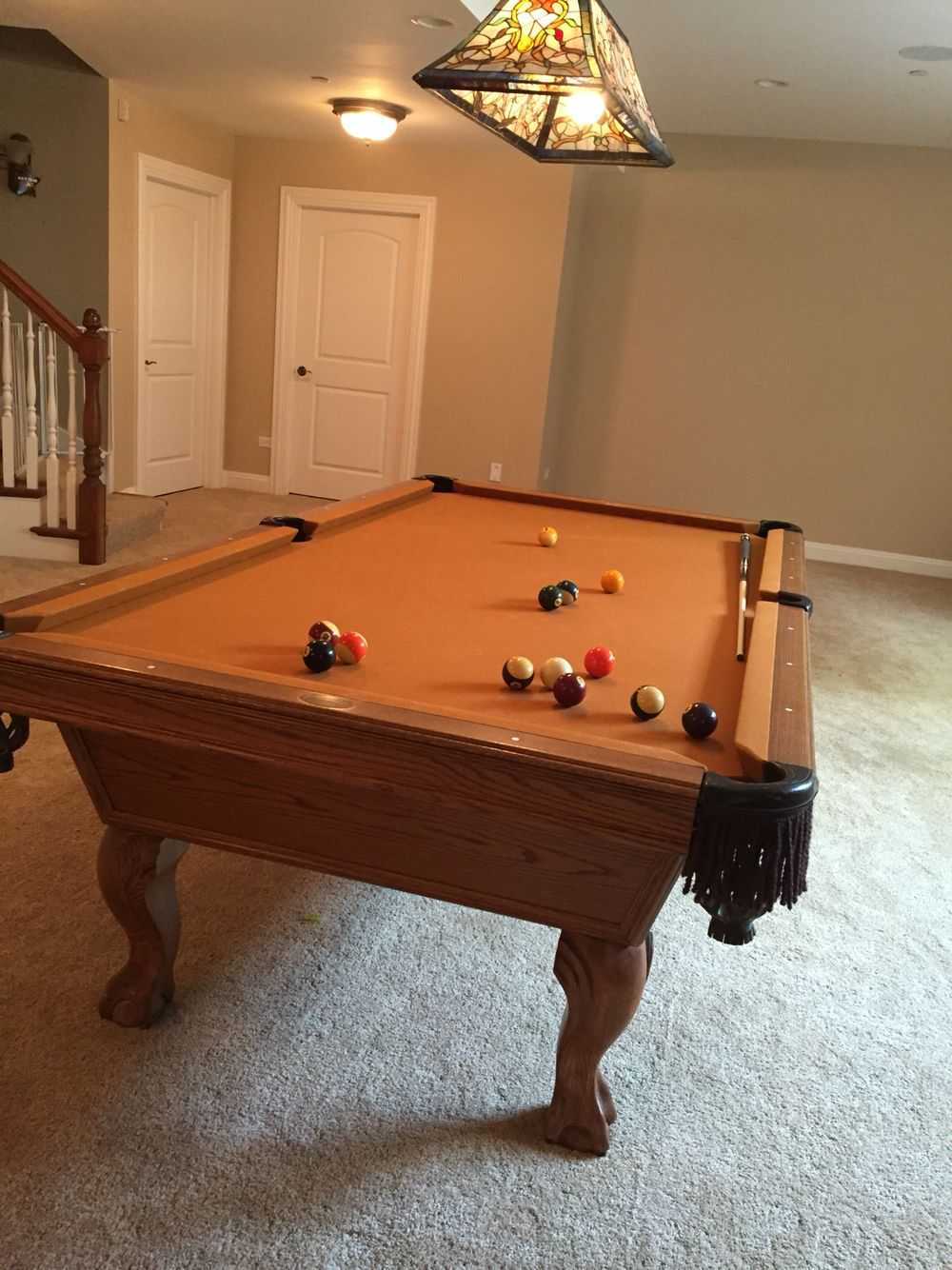 Great condition love this slate 8 12 foot pool table a