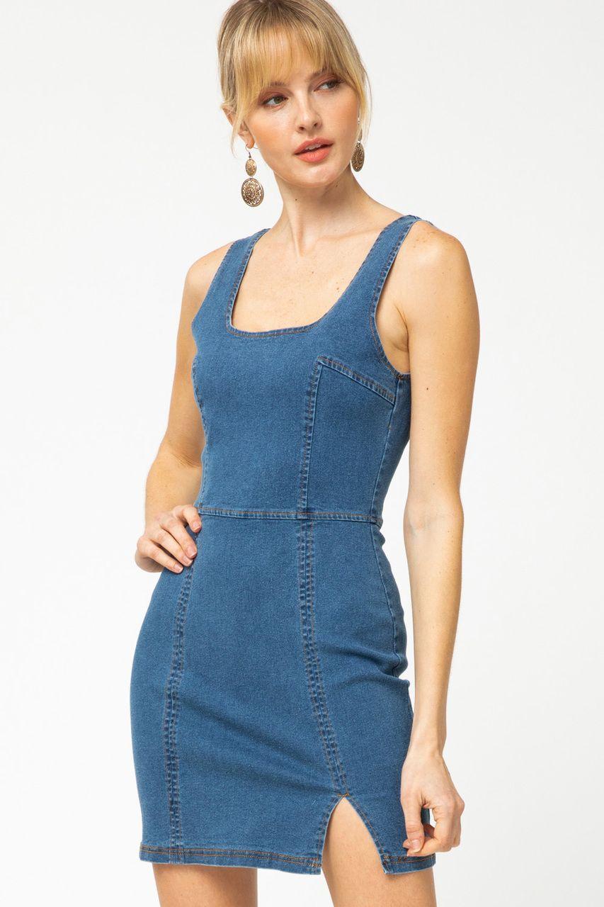 Dani Dark Wash Denim Bodycon Dress Bodycon Fashion Clothes Denim Bodycon Dress [ 1280 x 853 Pixel ]