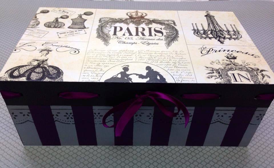 Caja de madera pintada a mano cajas madera cajas de - Cajas decoradas a mano ...