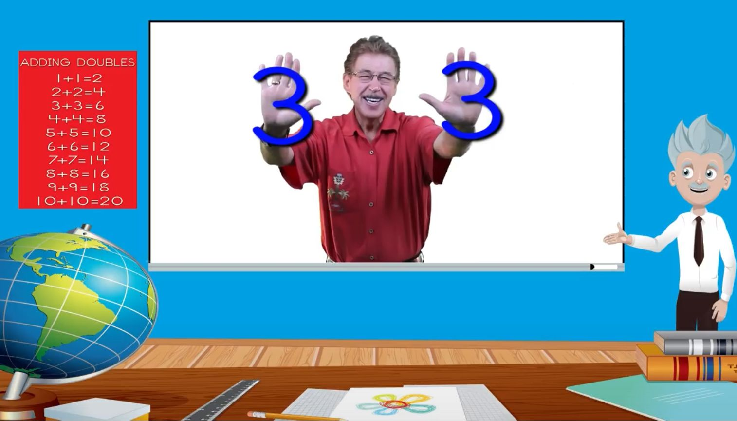 Adding Doubles Fun Math Song For Kids Jack Hartmann Youtube Math Songs Kids Songs Fun Math Adding doubles video song