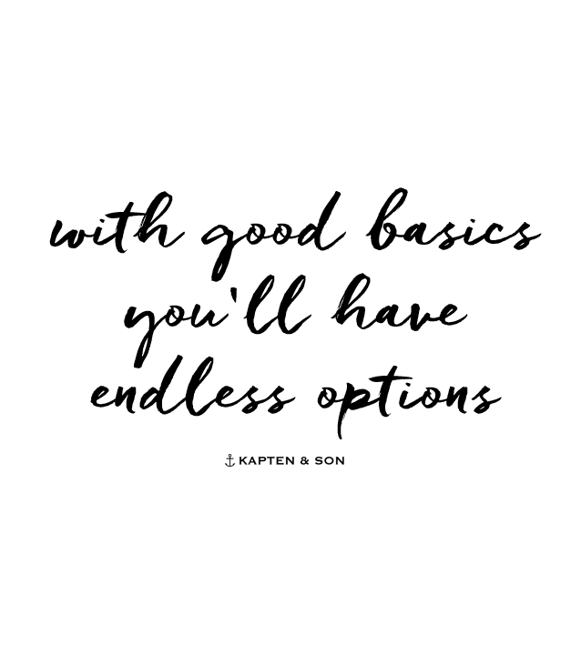 Options Quotes | With Good Basics You Ll Have Endless Options Quote Sayings