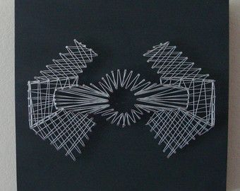 Nail string art in the style of the death star millennium set of star wars death star millennium falcon tie fighter nail and string wall art shelf art prinsesfo Gallery