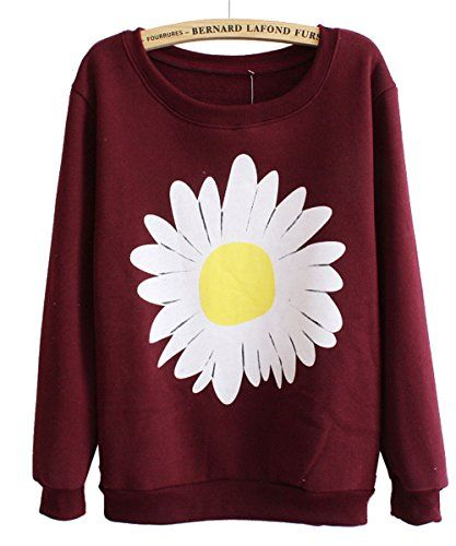 Mooncolour Women Girls Cute Chrysanthemum Pattern Crewnek Pullover Fleece Sweatshirt Mooncolour http://www.amazon.com/dp/B00MMW70G6/ref=cm_sw_r_pi_dp_Villub0BD4HHH