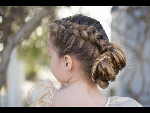 Cute Girls Hairstyles Youtube Dutch Braided Bun  Updo  Cute Girls Hairstyles  Youtube  For Me