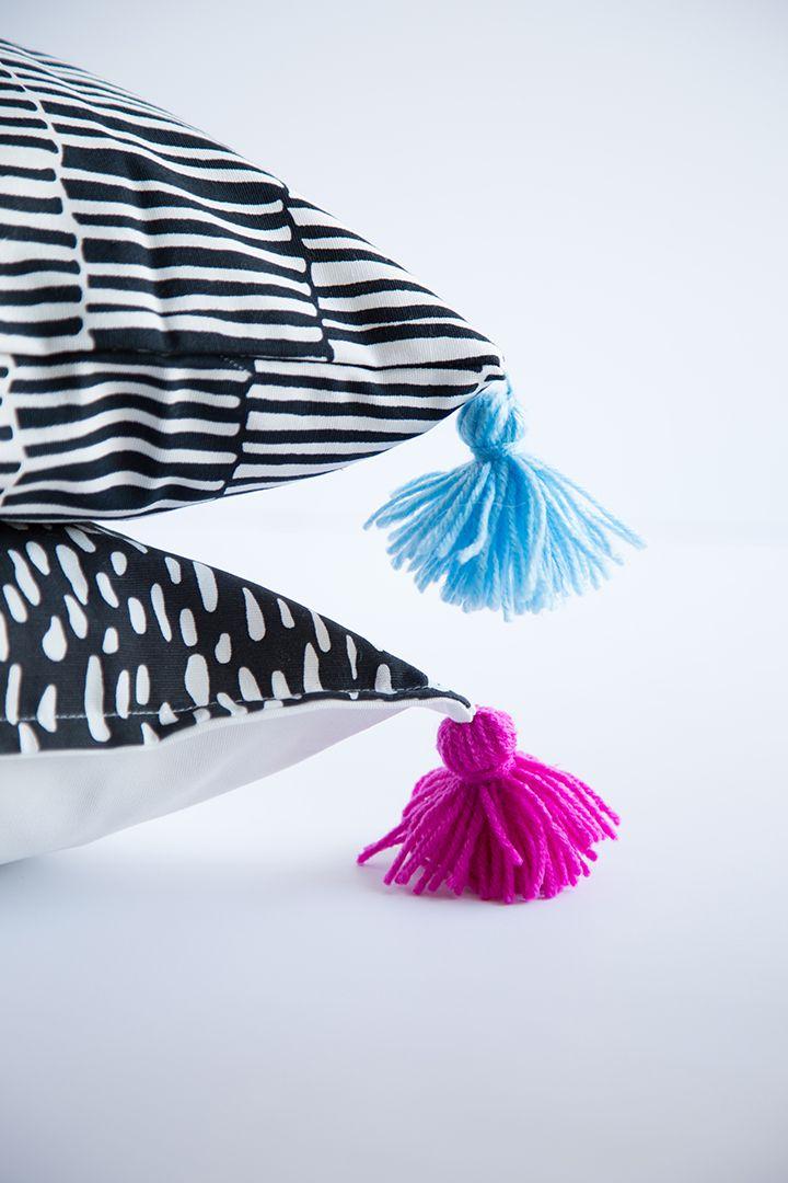 Ikea Pillow Case Hack – DIY Yarn Tassels