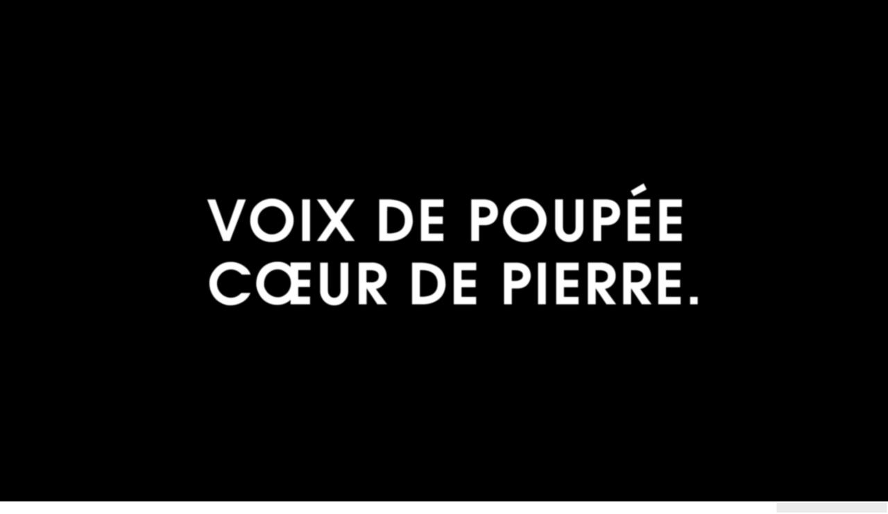 Voix De Poupée Cœur De Pierre Coeur De Pierre Citation
