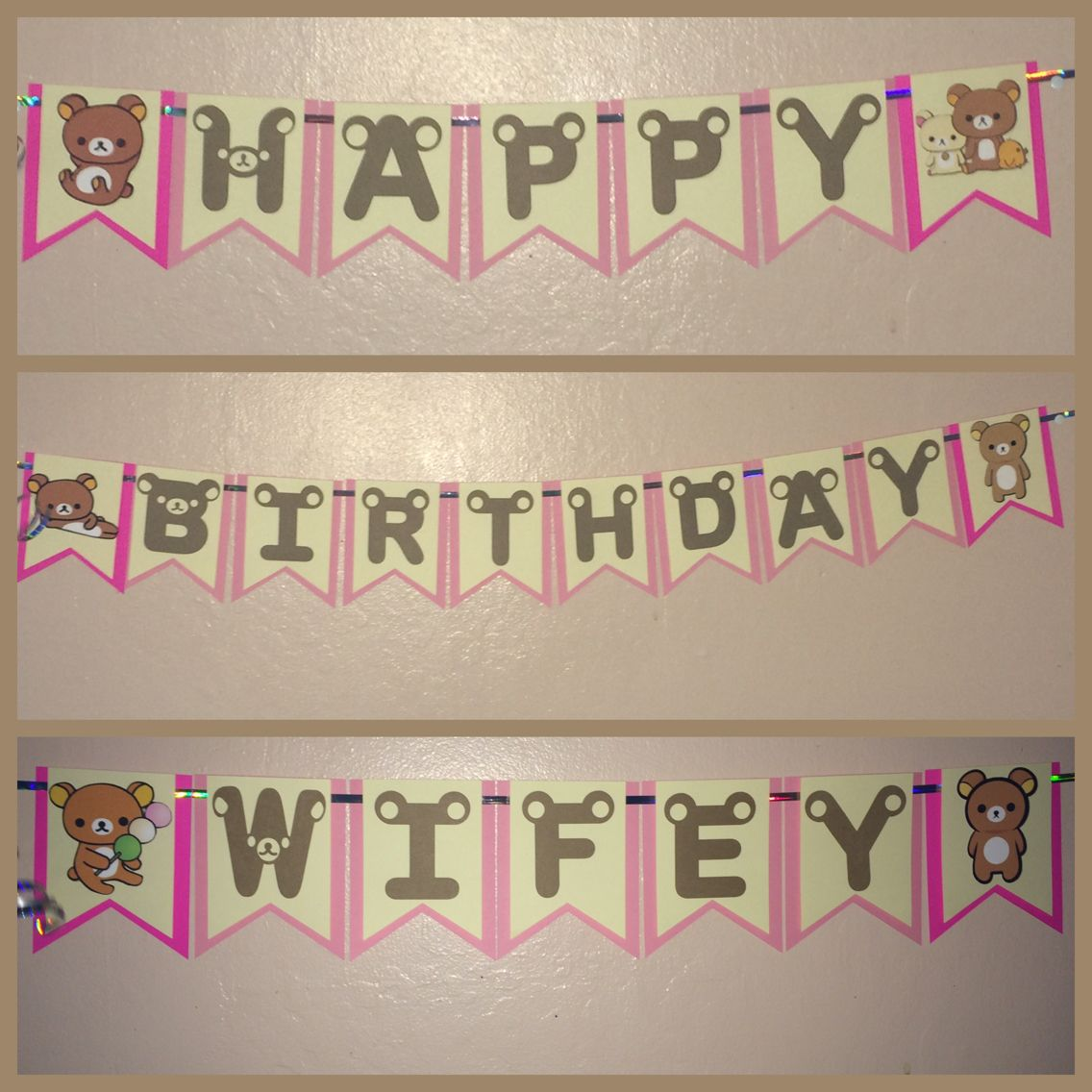 white vinyl letters see more rilakkuma bear birthday banner birthday rilakkuma bear diy banner cricut