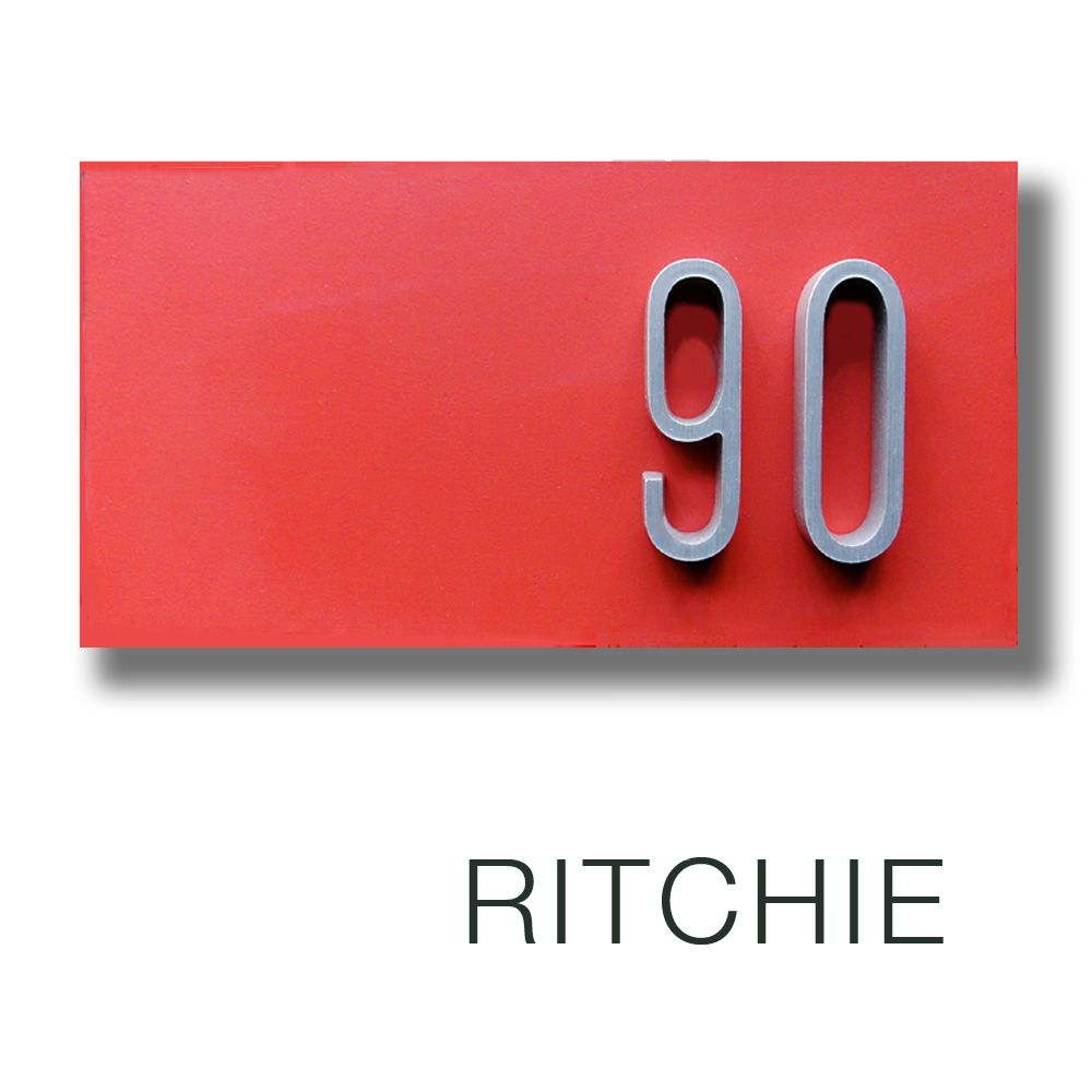 Ritchie House Number Houseproudsigns Com With Images Home Signs House Numbers Ritchie