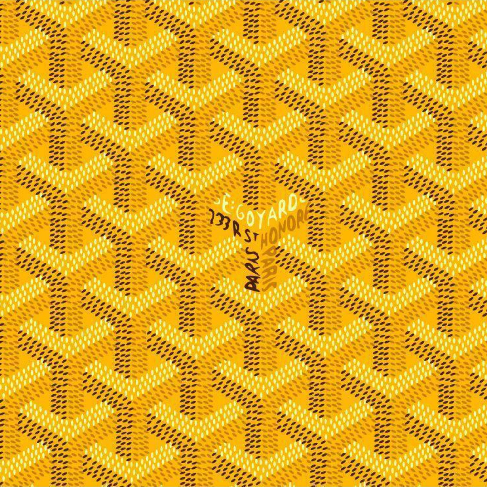 Yellow Goyard Pattern Tap To See More Goyard Wallpapers Mobile9 Goyard Pattern Yellow Fabric Texture Yellow Wallpaper