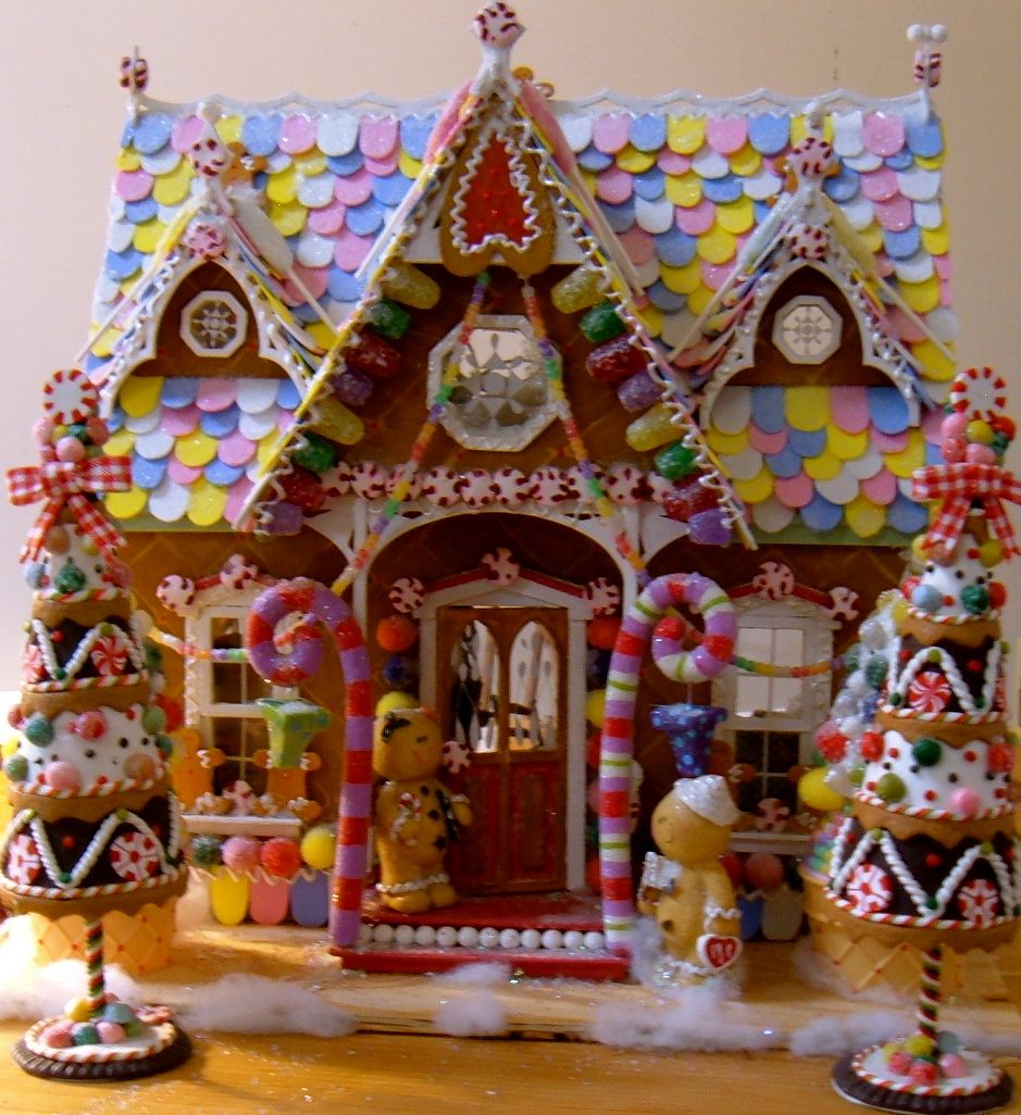 School Office Decor Christmas Gingerbread House Door: How To Make Fake Gumdrops