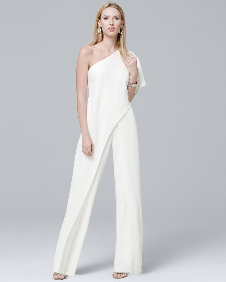 8a2d77ddfc46 Women s Adrianna Papell One-Shoulder Jumpsuit by White House Black Market