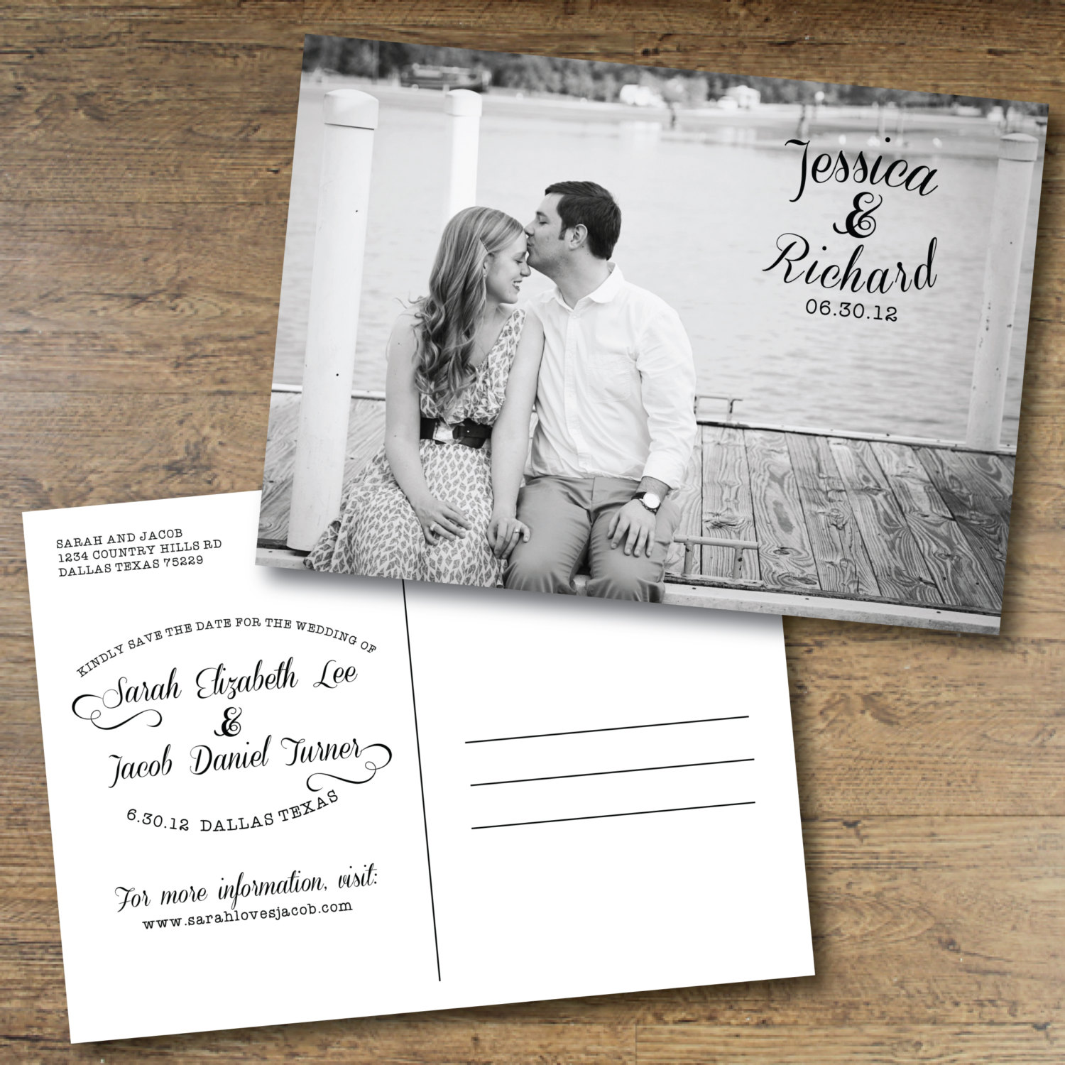 Printable Save The Date Postcard Someone Elses Wedding - Save the date postcard template