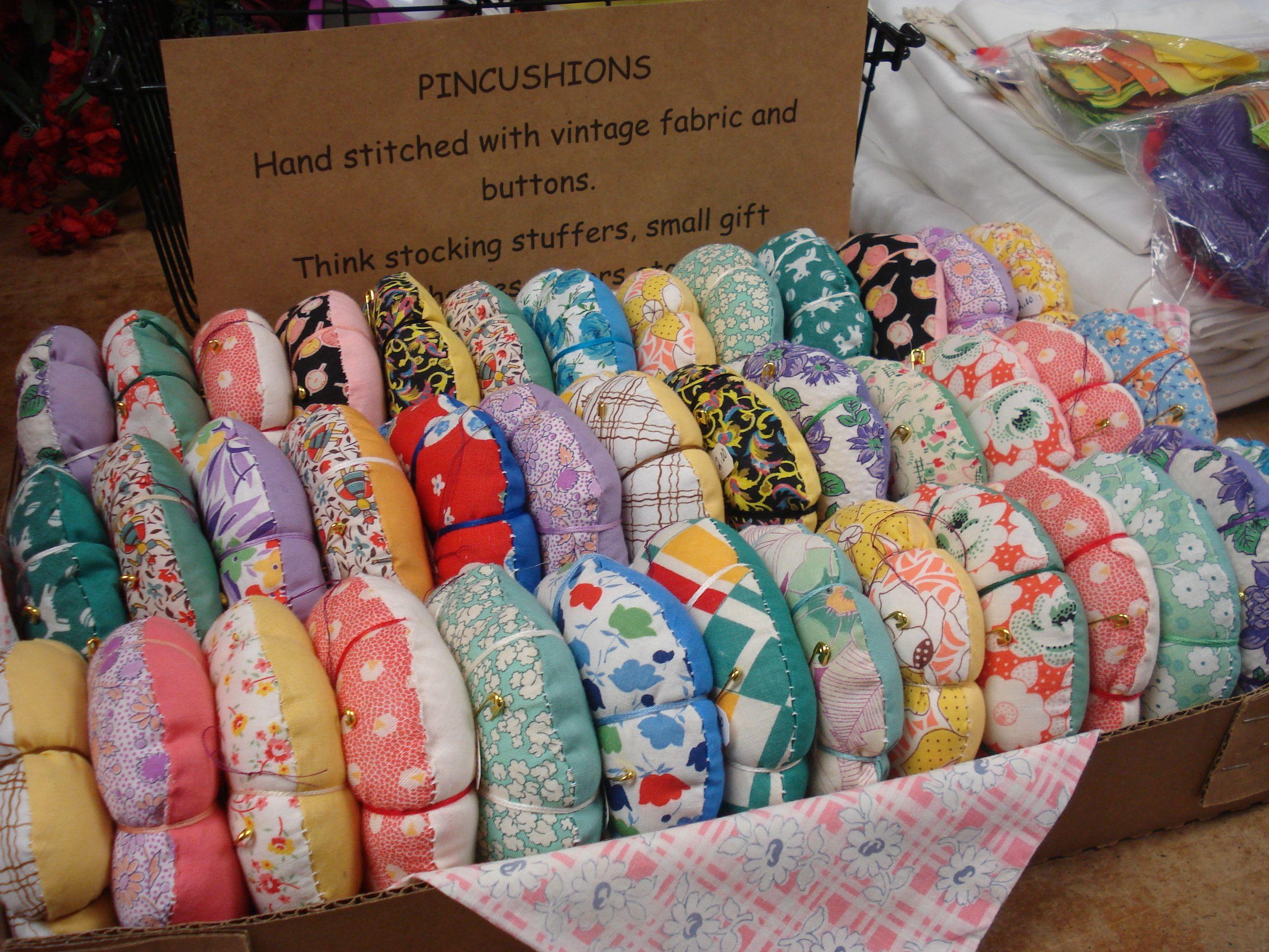 Pincushions For Church Fundraiser