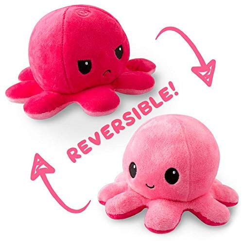 The Original Reversible Octopus Plushie | TeeTurtle's Patented Design | Light Blue and Dark Blue | Show your mood without saying a word!