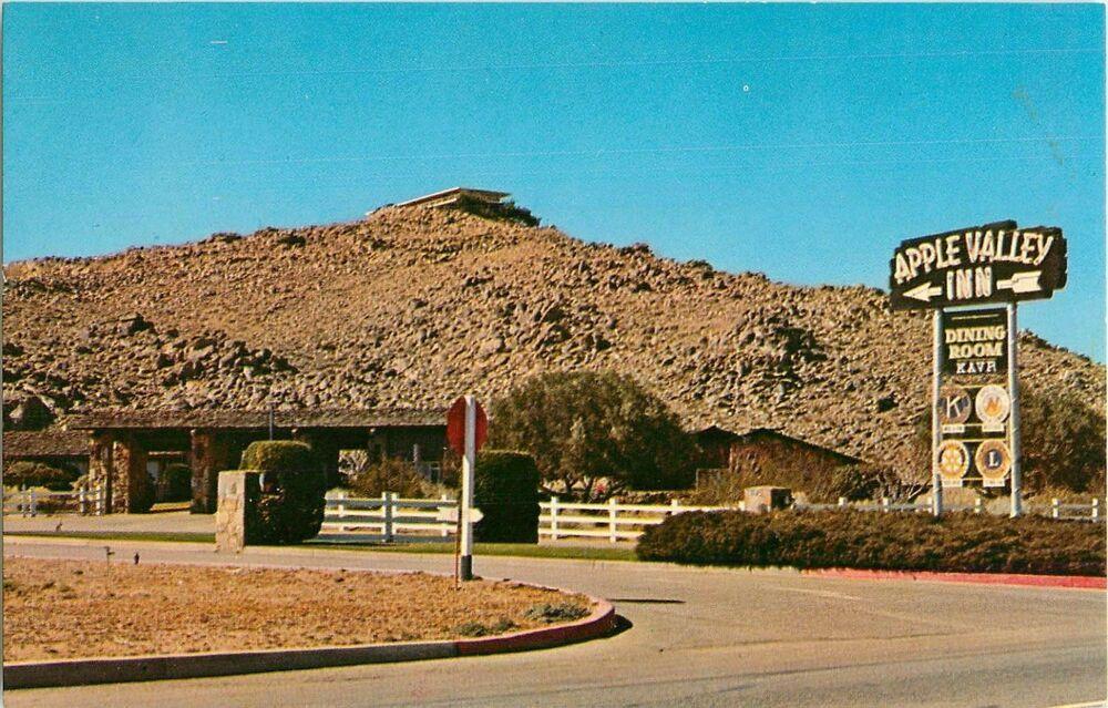 1950s Entrance To Apple Valley Inn Apple Valley California Postcard Apple Valley California Postcard Apple Valley Ca