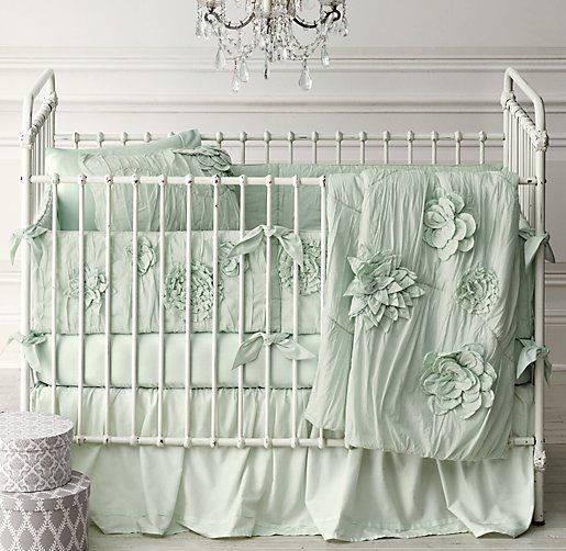 Obsessed with this bedding. Washed Appliquéd Fleur & Vintage-Washed Italian Sateen Nursery Bedding Collection trendy family must haves for the entire family ready to ship! Free shipping over $50. Top brands and stylish products