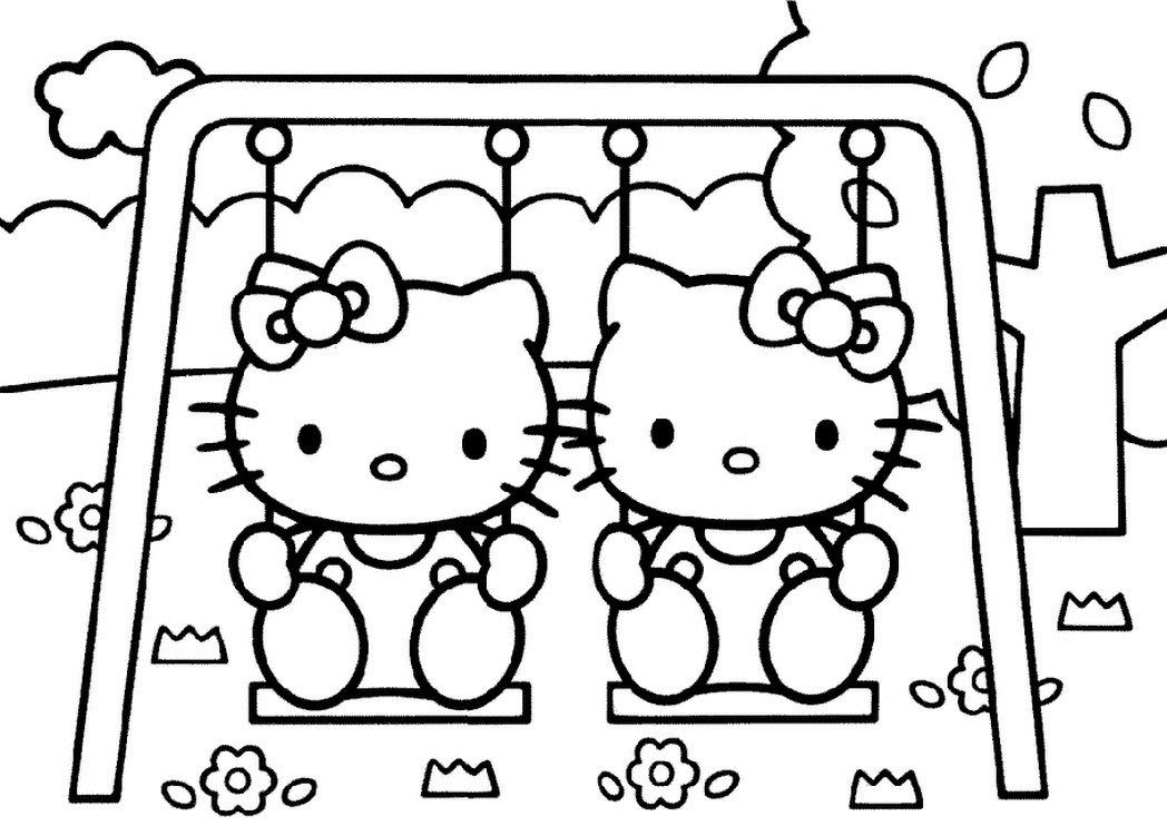 Free Printable Hello Kitty Coloring Pages