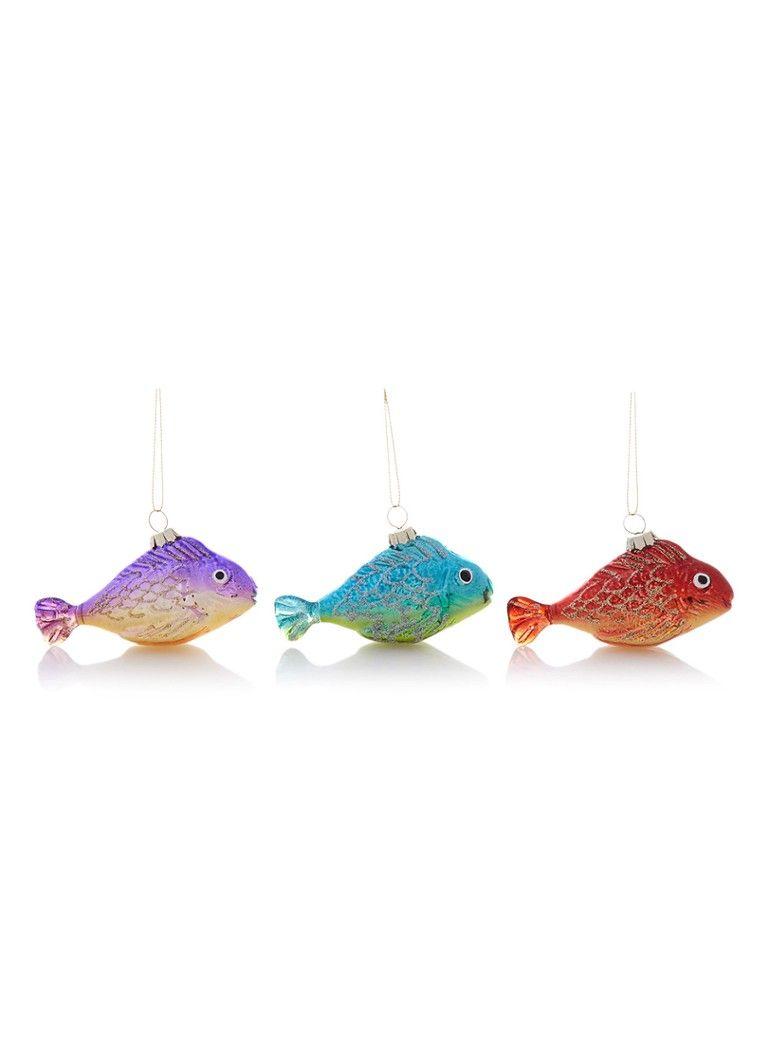 &Klevering Fish kerstboomdecoratie set van 3 • de Bijenkorf