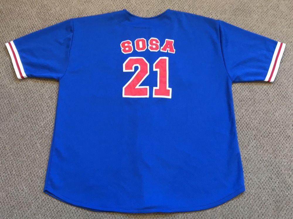 c7f0aa391 Vintage Sammy Sosa Chicago Cubs  21 Stitched Baseball Jersey Men s Size XL    39.99 End