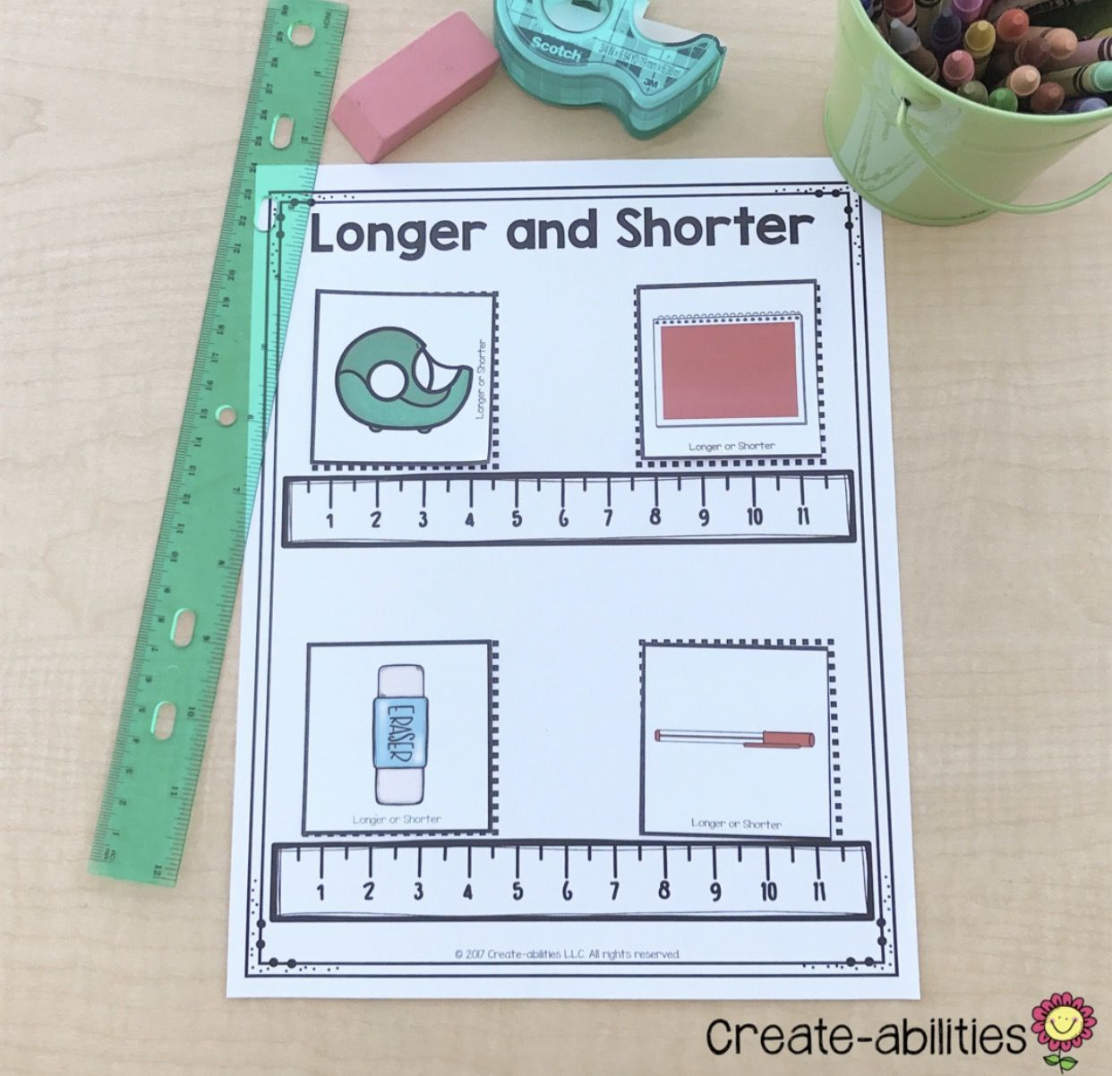 1st Grade Measurement Math Centers