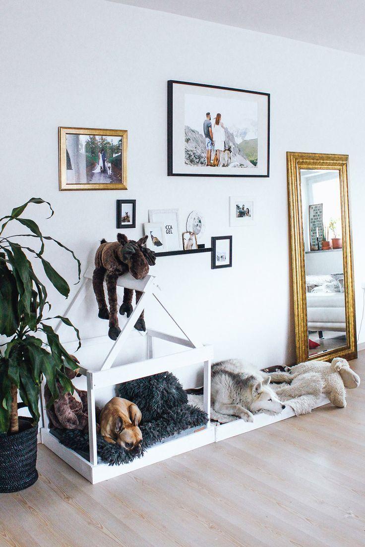 Who Is Mocca Modeblogger Fashionblogger Interiorblog Hundehutte Selber Bauen Diy Hundehaus Wanddekoration Wandgestal Dog Spaces Puppy Room Dog Bedroom