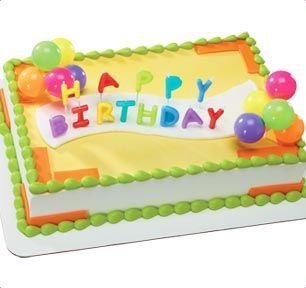 BaskinRobbins Happy Birthday Candles Neon Cake Baskin Robbins