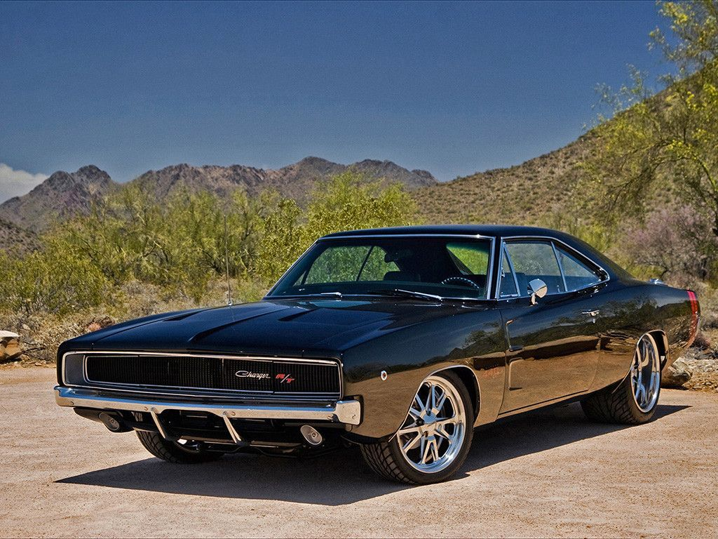 Dodge Charger R/T RT Auto Vintage Retro Muscle Car Poster | Car ...