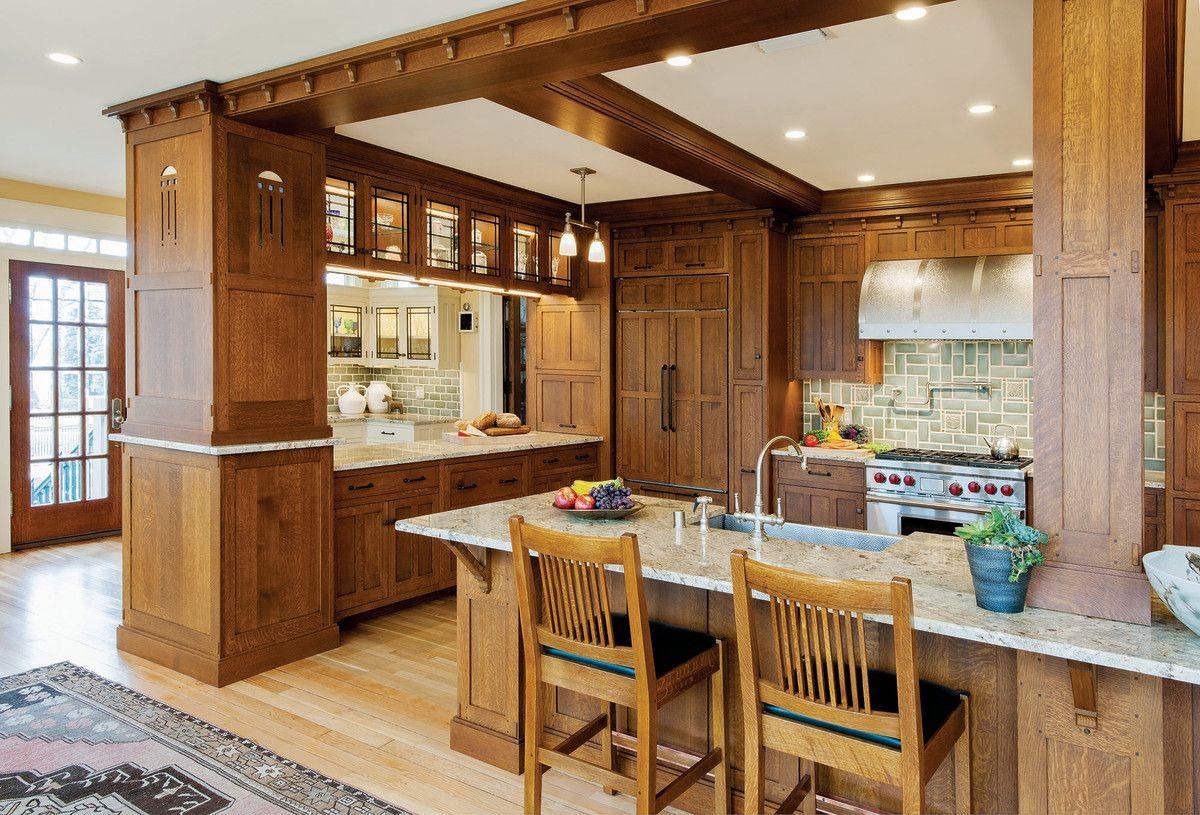 Craftsman Kitchen Kitchen Cabinet Styles Mission Style Kitchen Cabinets Craftsman Style Kitchens